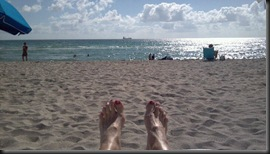 feet up in Miami