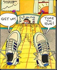 Get Up Time to Run-cartoon