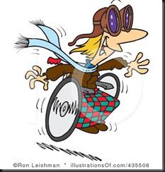 Injured Wheel Chair Racer