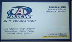 AdvoCare Business Card