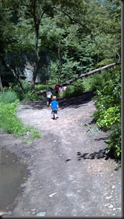 Mattessien State Park_kids on trail_Aug 2012