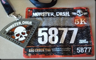 Monster Dash_2012_Medal & Bib