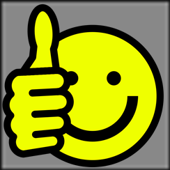 smiley face thumbs up