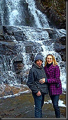 Smoky Mtns__mick & I by waterfall_2013