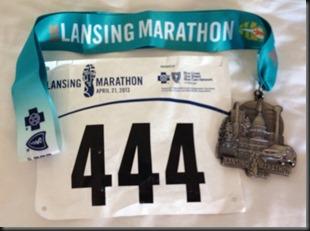 Lansing Marthon_bib medal