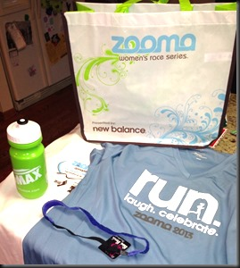 Zooma RFK Run_registration goodies