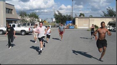 100 m sprints