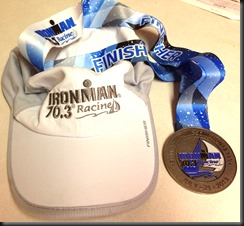 IM Racine 70.3_finisher swag