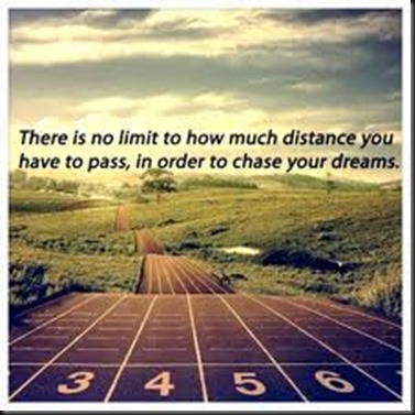 No limit to Distance To chase your dreams