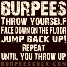 burpees suck