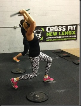 Lunges w 10lb plate