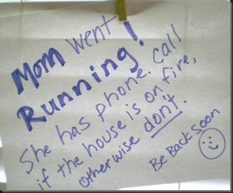 mom went running
