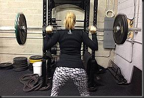 back squats 32