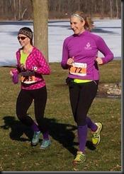 me & kasey - running