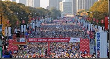 Chicago Marathon_start view
