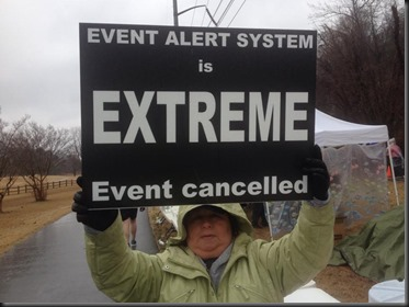 Event Canceled sign